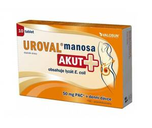 Uroval manosa Akut + s brusnicami 10 tbl.